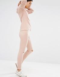 Рваные джоггеры Boohoo - Розовый