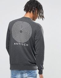 Свитер с принтом сзади Antioch Maze - Черный