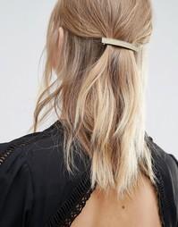 Блестящая заколка для волос с прямоугольником DesignB London - Золотой