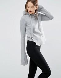 Худи с длинными расклешенными рукавами Style Mafia - Серый