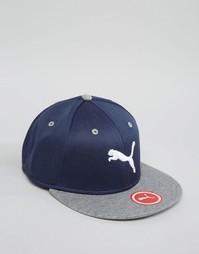 Эластичная кепка с плоским козырьком Puma - Синий