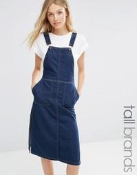 Джинсовое платье-комбинезон Vero Moda Tall - Темно-синий джинс