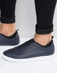 Темно-синие кроссовки-слипоны ASOS - Темно-синий