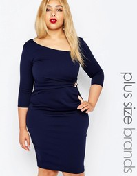 Платье-футляр с зажимом Goddiva Plus - Темно-синий