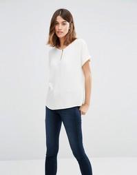 Блузка на пуговицах спереди Vero Moda - Снежно-белый