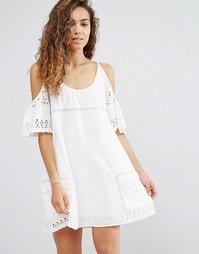 Платье с открытыми плечами d.RA Nancy - Белый
