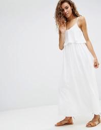 Платье с оборкой d.RA Brigitte - Слоновая кость