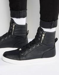 Кроссовки с высокими манжетами и молниями ASOS - Черный
