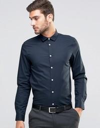 Темно-синяя строгая рубашка классического кроя ASOS - Темно-синий
