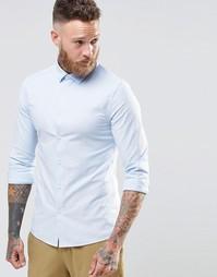 Синяя оксфордская рубашка с длинными рукавами ASOS - Синий