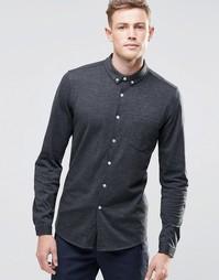 Темно-серая трикотажная рубашка с длинными рукавами ASOS - Угольный