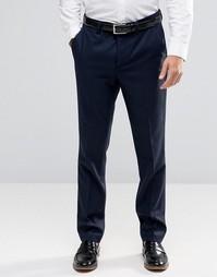 Зауженные шерстяные брюки Ted Baker - Темно-синий