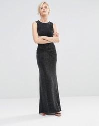 Платье макси с отделкой Girls On Film - Черный