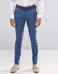Бледно-синие супероблегающие строгие брюки ASOS - Бледно-синий