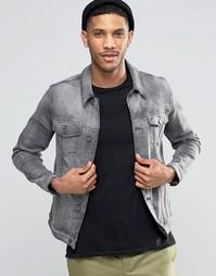 Серая зауженная джинсовая куртка ASOS - Серый