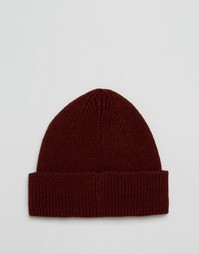 Бордовая рыбацкая шапка‑бини ASOS - Burgundy