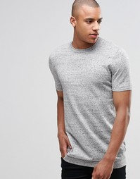 Светло-серая удлиненная трикотажная футболка ASOS - Светло-серый