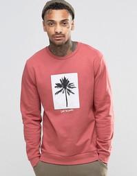 Свитшот с принтом пальмы ASOS - Розовый