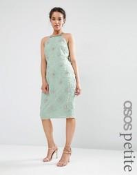 Декорированное платье миди с драпировкой сзади ASOS PETITE WEDDING