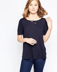 Рубашка с кружевной вставкой на спинке JDY Kimmie - Синий