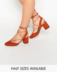 Туфли на каблуке со шнуровкой ASOS SERENE - Красно-бурый