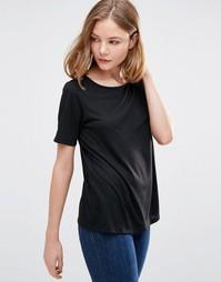 Черная рубашка с кружевной вставкой на спинке JDY Kimmie - Черный