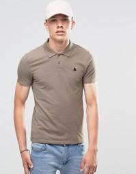 Коричневая футболка-поло ASOS - Коричневый кокос