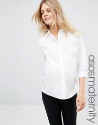 Рубашка для беременных с рукавами 3/4 ASOS Maternity - Белый