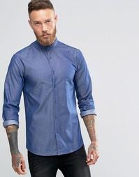 Рубашка суперзауженного кроя из ткани шамбре Heart & Dagger