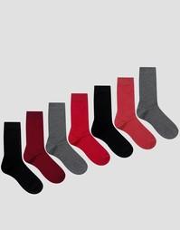 7 пар сливовых носков ASOS - Мульти