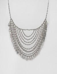 Многослойное ожерелье с монетками Missguided - Серебряный