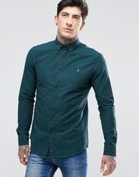 Темно-зеленая оксфордская рубашка зауженного кроя Farah