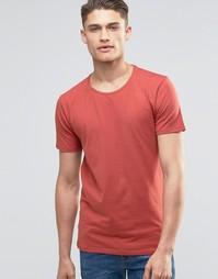 Футболка с круглым вырезом Selected Homme - Красный