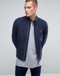 Темно-синяя хлопковая куртка Харрингтон Farah - Темно-синий