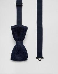 Трикотажный галстук-бабочка Jack & Jones - Темно-синий