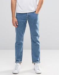 Фактурные узкие джинсы стретч ASOS - Умеренный синий