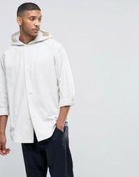 Рубашка с капюшоном и длинными рукавами ASOS - Белый
