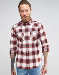 Клетчатая рубашка в стиле вестерн из хлопка с начесом Levis Barstow Levis®