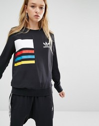 Свитшот в стиле колор блок adidas Originals Primary - Черный