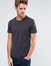 Меланжевая футболка с круглым вырезом Hilfiger Denim - Черный