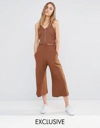 Комбинируемые укороченные брюки с широкими штанинами House Of Sunny