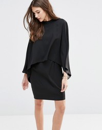 Ярусное свободное платье Minimum Sussih - Черный
