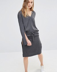Платье в рубчик House Of Sunny - Серый