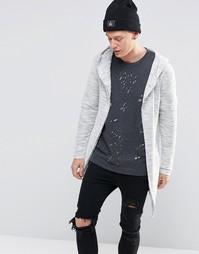 Удлиненная куртка с капюшоном Sixth June - Серый