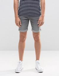 Серые джинсовые шорты слим Blend Twister - Выбеленный серый