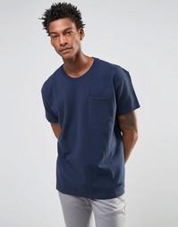 Темно-синяя футболка прямого кроя с карманом Levis Line 8