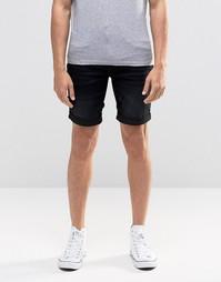Черные джинсовые шорты слим Blend - Выбеленный черный