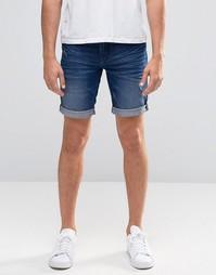 Узкие джинсовые шорты Blend Twister - Умеренный синий