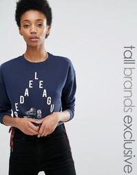 Укороченный свитер с принтом Noisy May Tall - Темно-синий