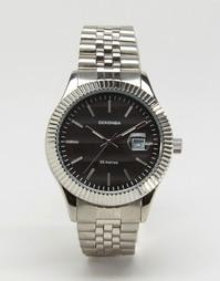 Серебристые наручные часы с черным циферблатом Sekonda эксклюзивно для